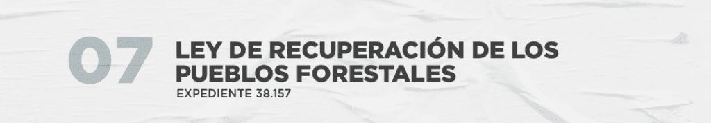 Ley de recuperación de los pueblos forestales