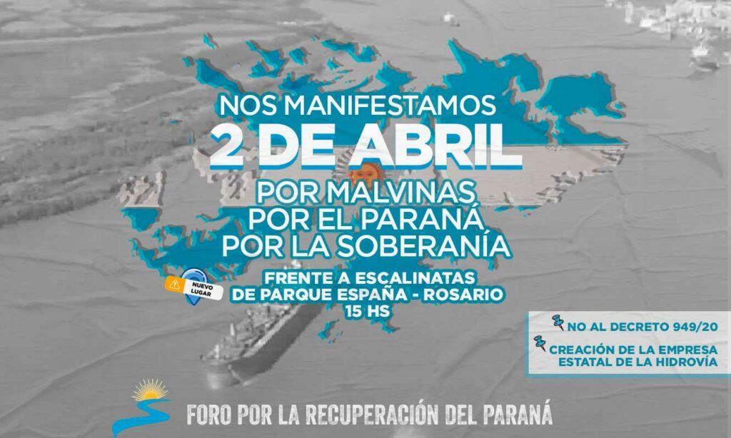 Por Malvinas, el Paraná y la soberanía